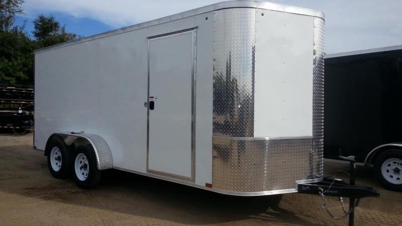 2020 Arising 7x16x6 Enclosed Cargo Trailer Motorcycle
