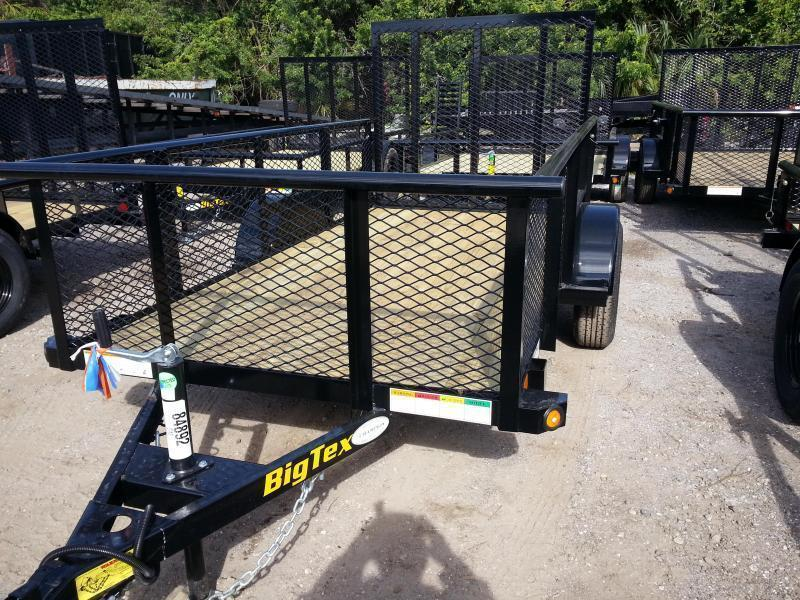 Big Tex 5' x 8' Utility Trailer with 2' Mesh Sides