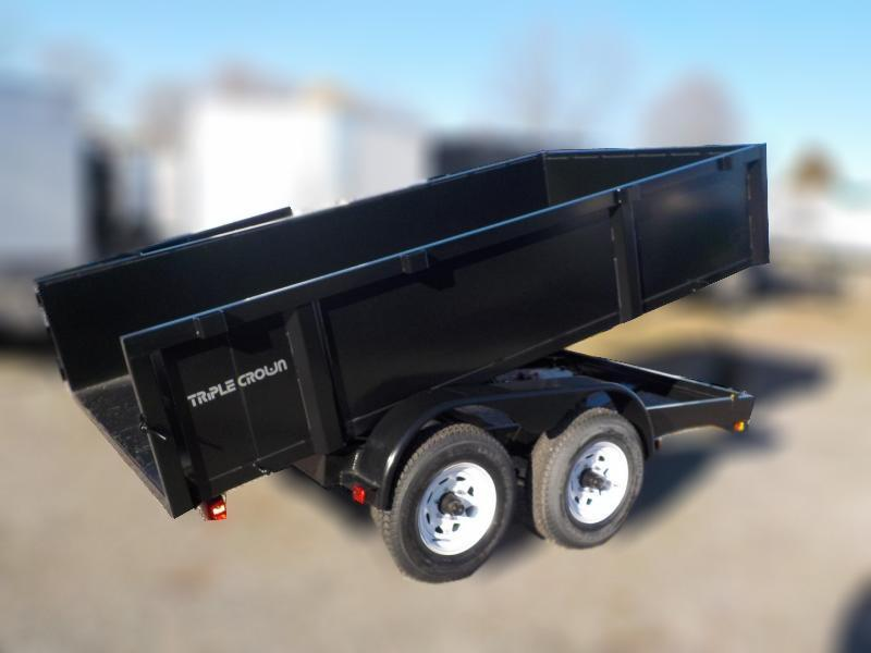 2020 Triple Crown Trailers 6x12 5.2k Axles Dump Dump Trailer