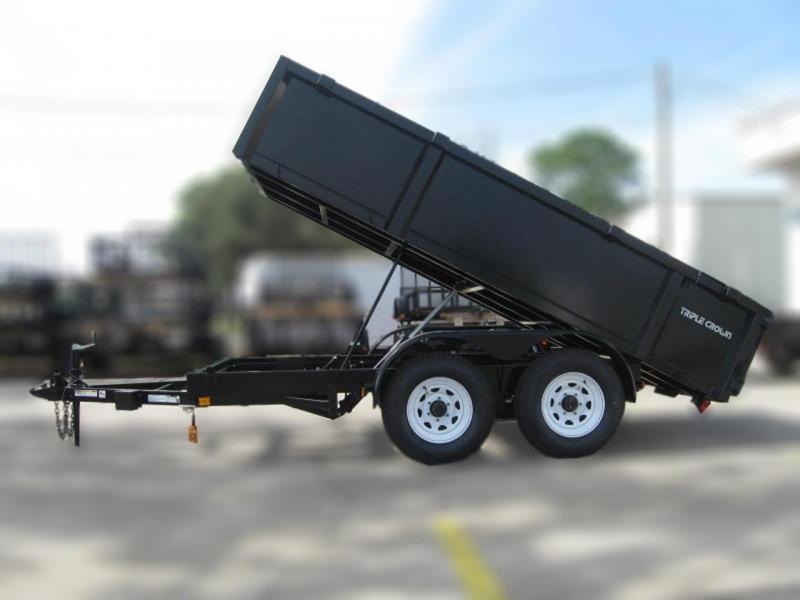2020 Triple Crown Trailers 6x12 5.2k Axles Dump Dump Trailer