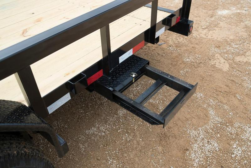 14PI-18' Big Tex Utility Trailer Equipment Trailer with Slide In Ramps with spring assist