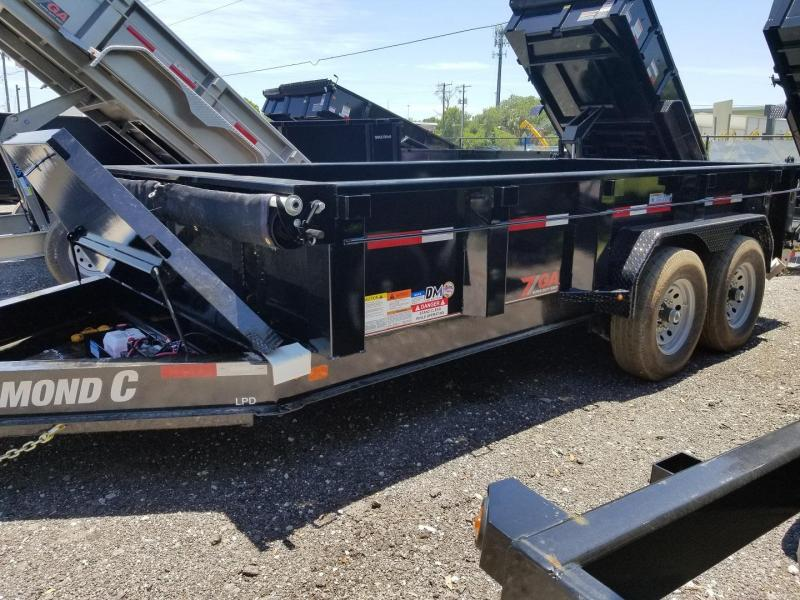 "Diamond C Trailers LPD 82""x14' 7GA Dump Trailer landscape hauling"