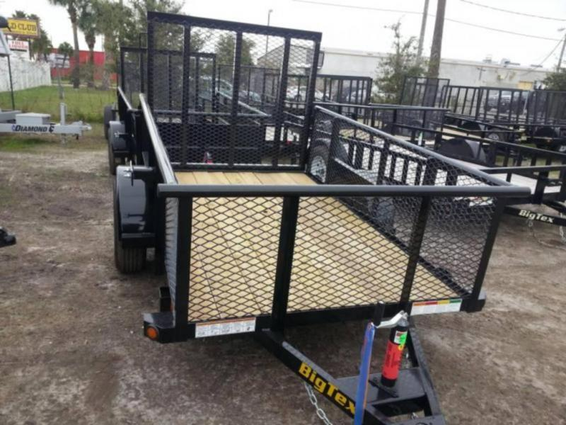 Big Tex 77x12' Utility Trailer Mesh 2' Sides