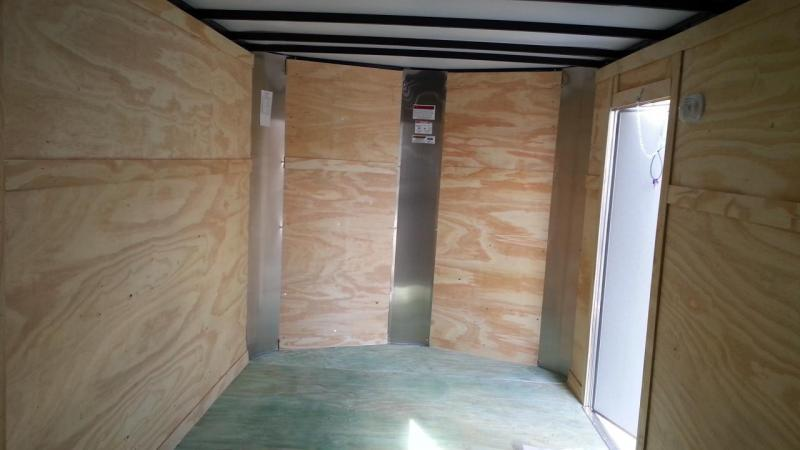 7 x 16 x 6 White E-Track Arising Industries Enclosed Motorcycle Storage