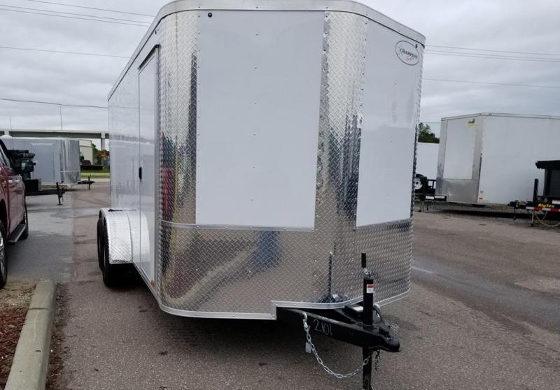 Arising 7x14x6 White Enclosed  Cargo Trailer Motorcycle trailer Storage
