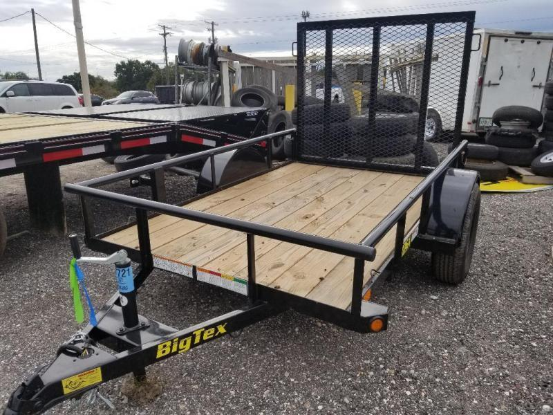Big Tex 5 x 10 Utility Trailer w/ 4' Ramp Gate
