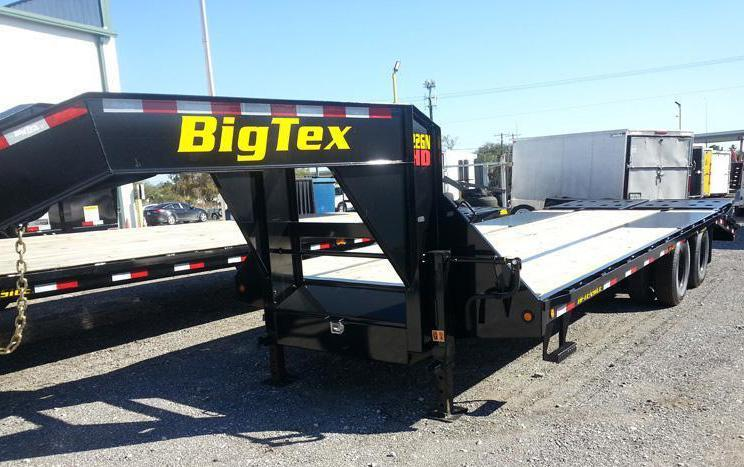 Big Tex 22GN 25'+5'MR Gooseneck Tandem Dual Equipment Hauler Trailer 25' Gooseneck Trailer
