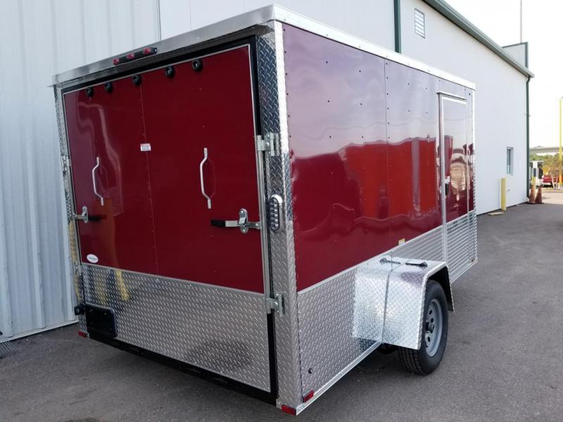 Arising 7x12SA Brandy ATP Enclosed Cargo Trailer Motorcycle