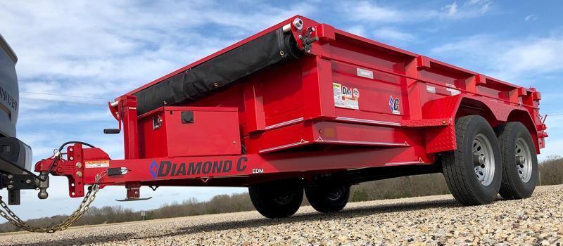 "Diamond C Trailers EDM 60""X12 Dump Trailer"