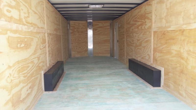 2019 Arising 8.5 x 16 x 6'6 White ATP Wrap Enclosed Cargo Trailer