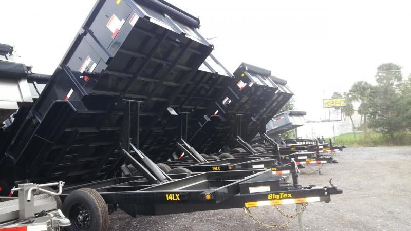 Big Tex Trailers 14LX-14BK-HJ Dump Trailer with Ramps w/Tarp