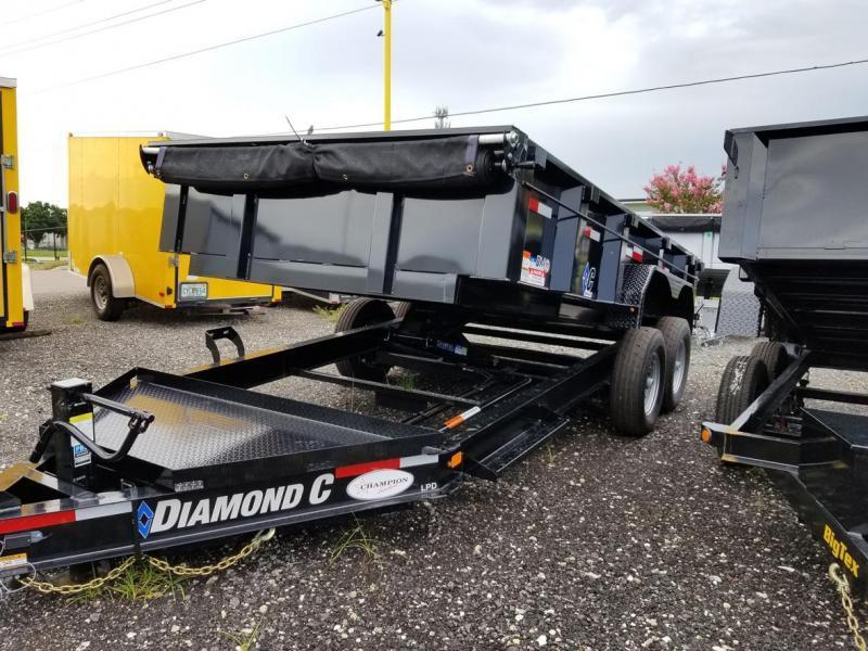 Diamond C Trailers LPD 82''X14' Dump Trailer w/ Staight Axle Landscape Hauling