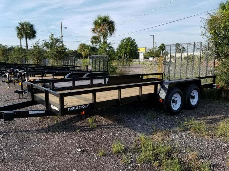 2019 Triple Crown Trailers 7x18 Utility Trailer