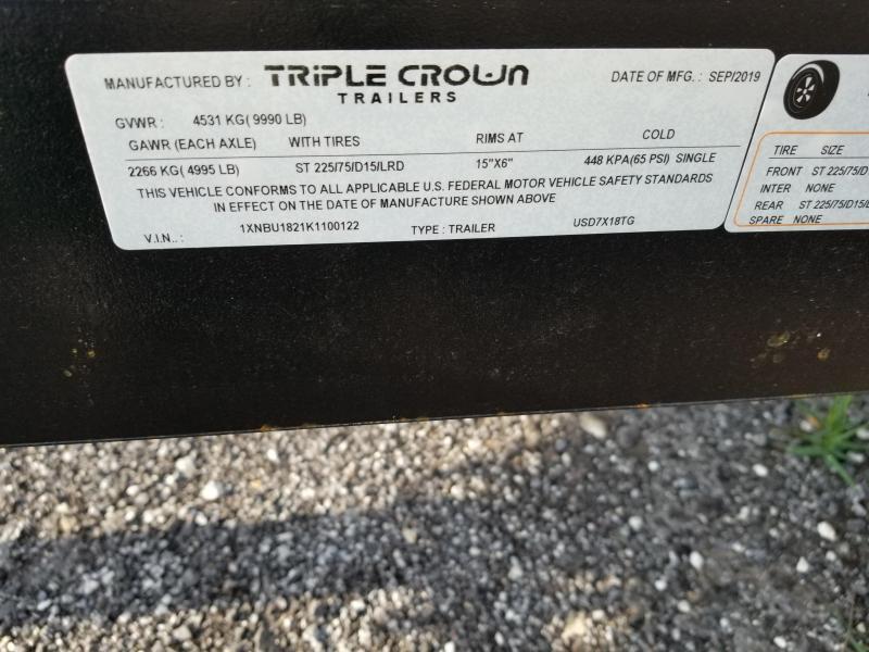 2019 Triple Crown Trailers 7x18 Utility Trailer