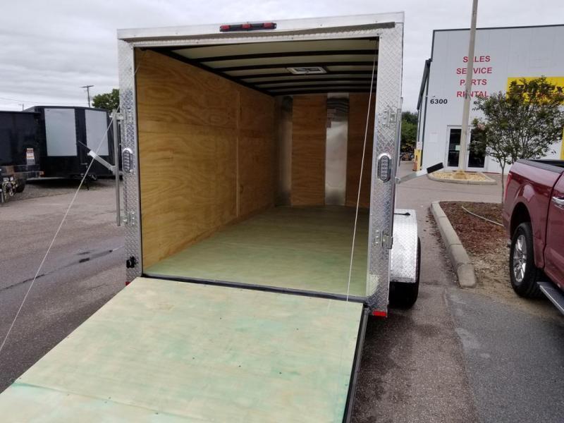 Arising 7 x 12 Enclosed Trailer Cargo Trailer Tandem Axle Motorcycle Storage
