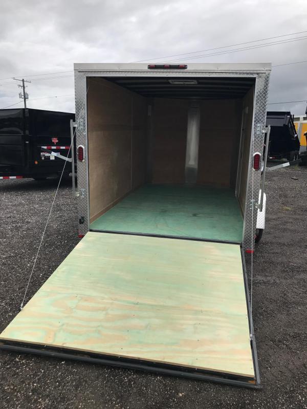 2018 7X12x6 SA White Arising Enclosed Cargo Trailer Motorcycle