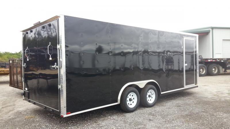 8.5x16x6'6 Arising Enclosed Trailer Crago Carhuler