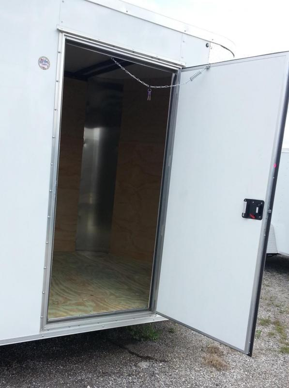 2018 7X12x6 SA White Arising Enclosed Cargo Trailer Motorcycle
