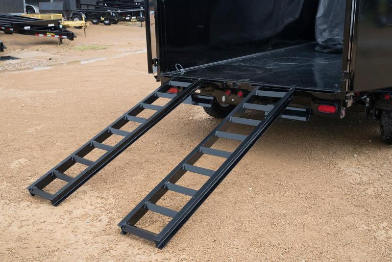 Big Tex Trailers 10LX-10'BK  Dump Trailer Low Pro with Ramps