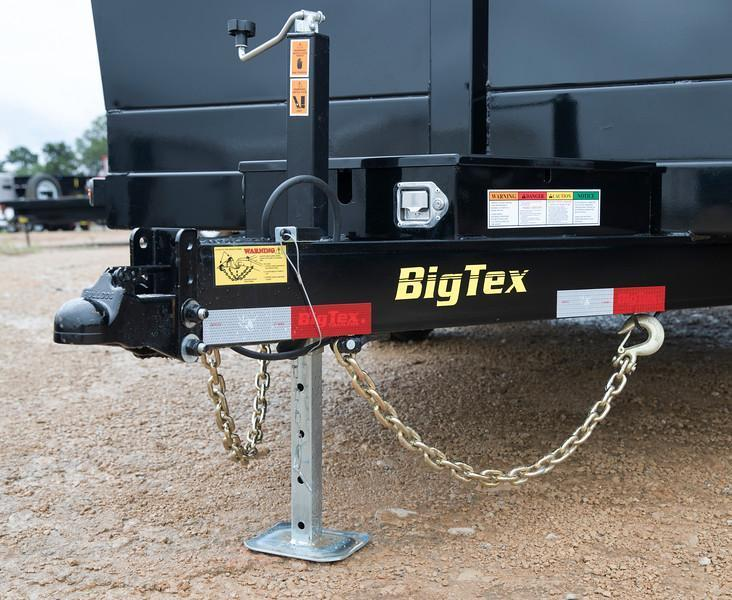 Big Tex Trailers 14LX-14 Dump Trailer Low Pro with Ramps