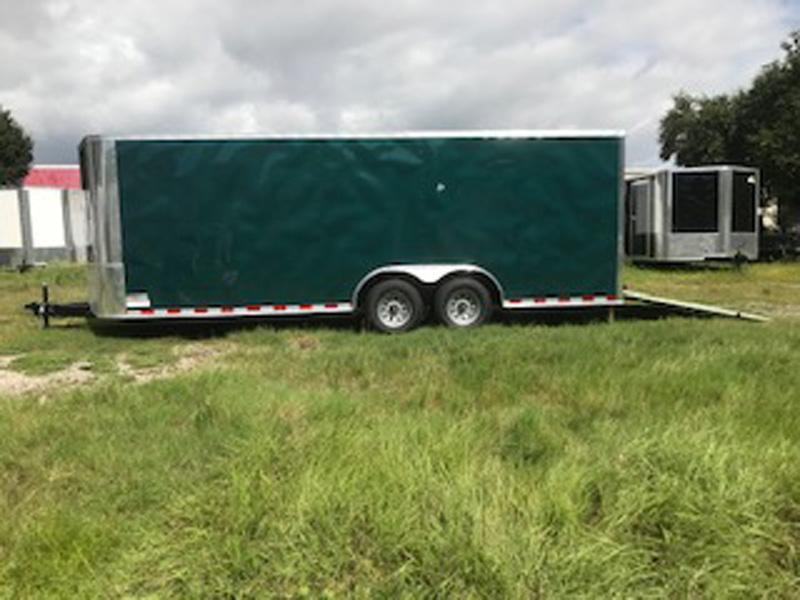 2019 Arising 8.5X20X6'6 Emerald Green Enclosed Cargo Trailer