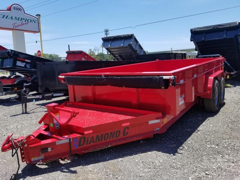 """Diamond C Trailers LPD 82""""x14' Dump Trailer landscape hauling"""