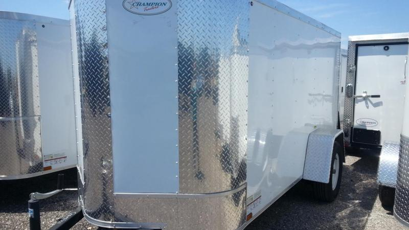 Arising 5x10 Enclosed Cargo Trailer Motorcycle Storage