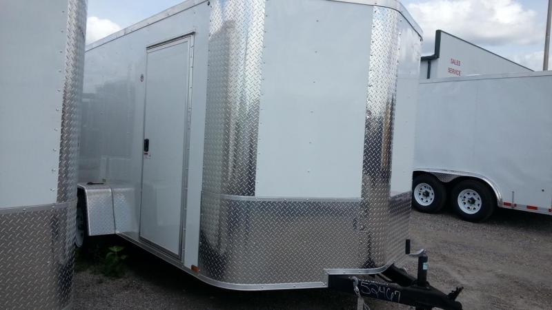 7X12x6 SA White Arising Enclosed Cargo Trailer Motorcycle