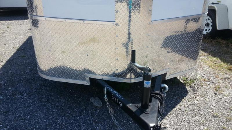 7X12x6 SA White Arising Enclosed Cargo Trailer Motorcycle