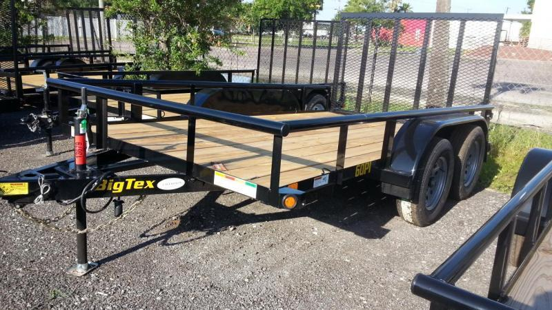 "Big Tex 77""x16' Utility Trailer Open Utility Lawncare Trailer Landscape Hauling"