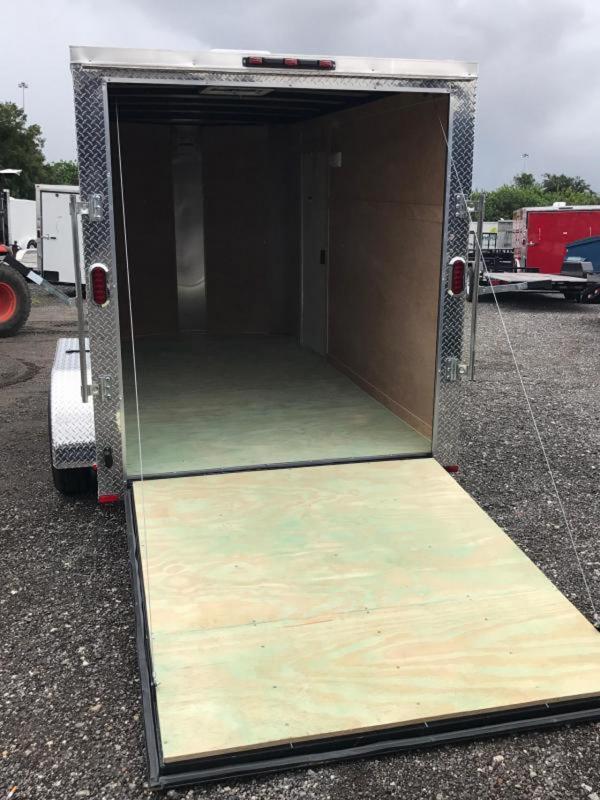 6X12 SA Arising Enclosed Trailer Motor Cycle Storage