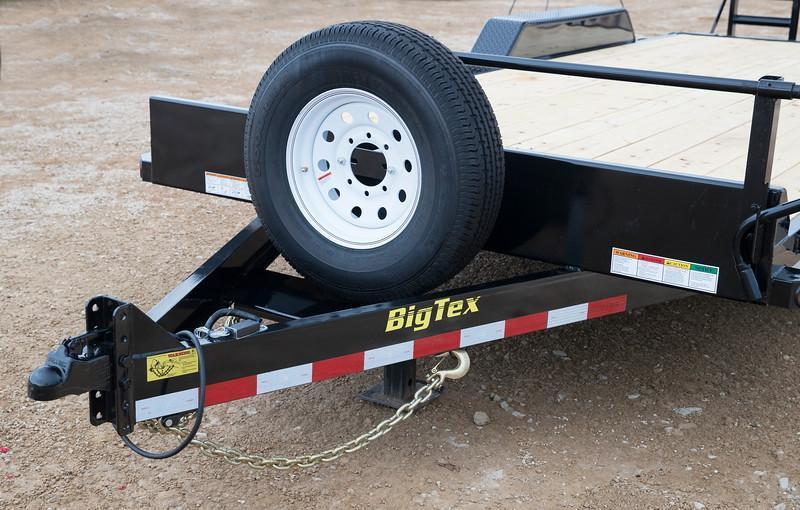 Big Tex 14ET-20'KR Heavy Duty Tandem Axle 7k Equipment 20'