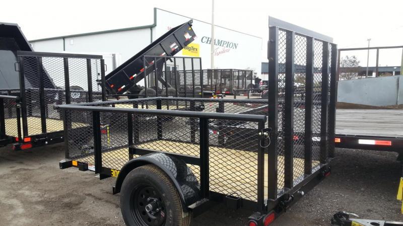 Big Tex 5 x 10 Utility Trailer w/ 4' Ramp Gate Lawncare