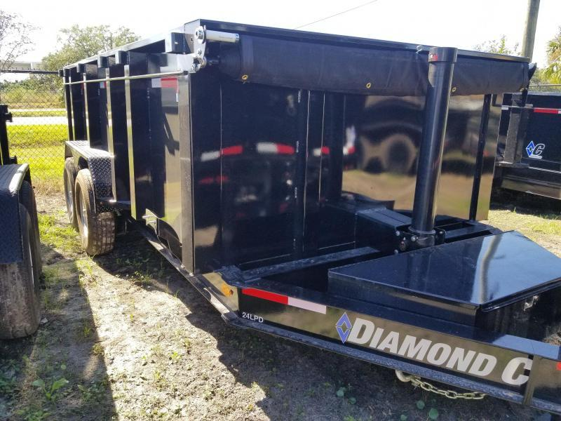 Diamond C 24LPT TELESCOPIC Low Profile Dump 4' sides
