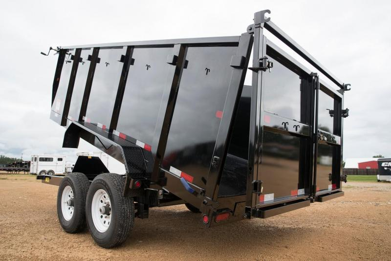 Big Tex 83 x 14 Dump Trailer with 4' Sides with Ramps Hydraulic Jack