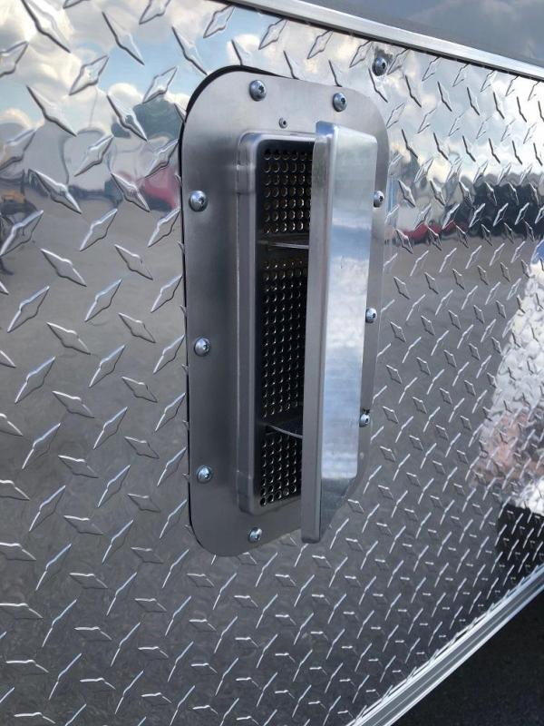 Arising 6x12SA Enclosed Motorcycle Trailer Mag Wheels