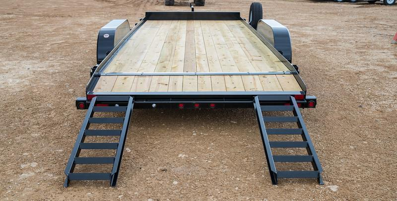 70CH 18' Big Tex Car Hauler Equipment Trailer Race Car Trailer Rear Dovetail with Slide in Ramps