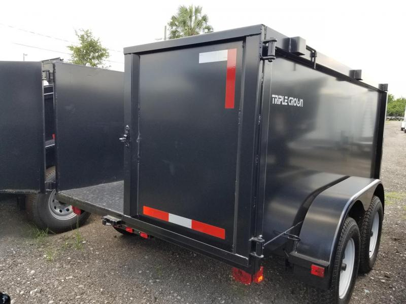 2019 Triple Crown Trailers 6' X 12' LRD 4' SIDES 2-5200# Dump Trailer