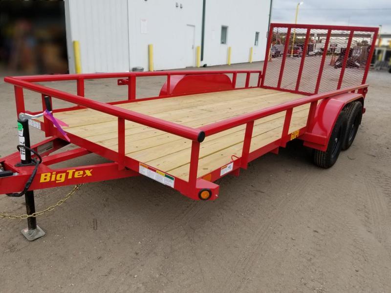 Big Tex 60 PI 77x16' RED Tandem Axle Utility Lawncare