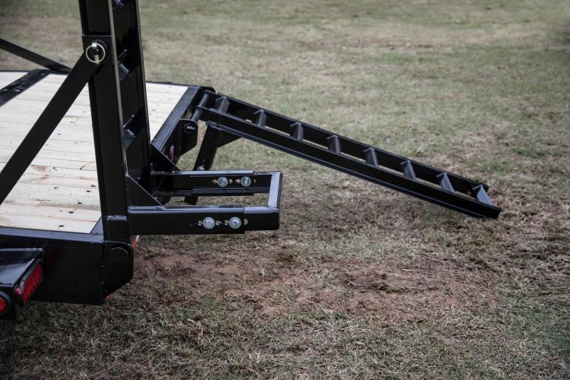 14ET Heavy Duty BIG TEX 20' TANDEM AXLE EQUIPMENT TRAILER W/Knee Ramps