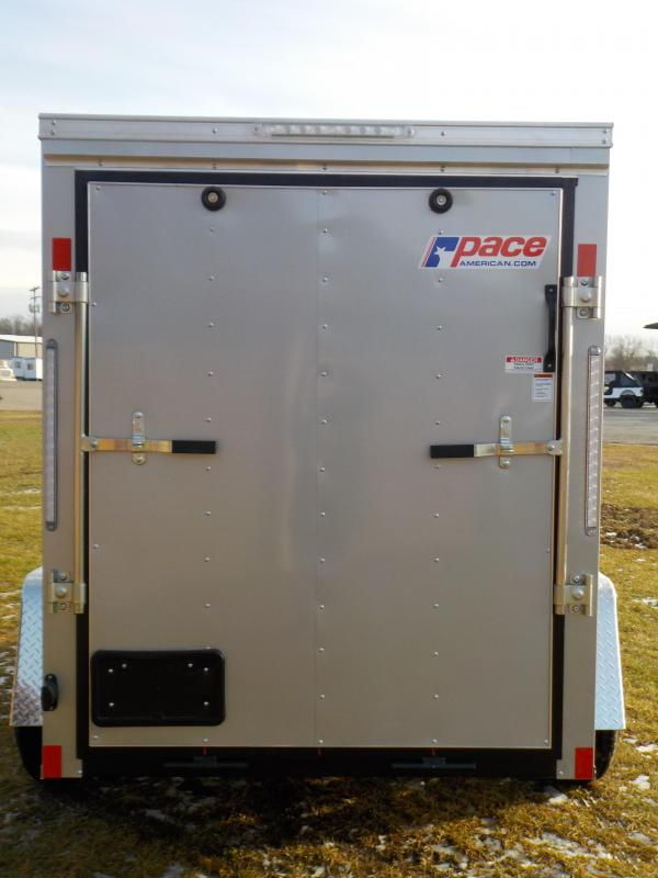 2020 Pace American Outback Deluxe 5X8 Cargo / Enclosed Trailer
