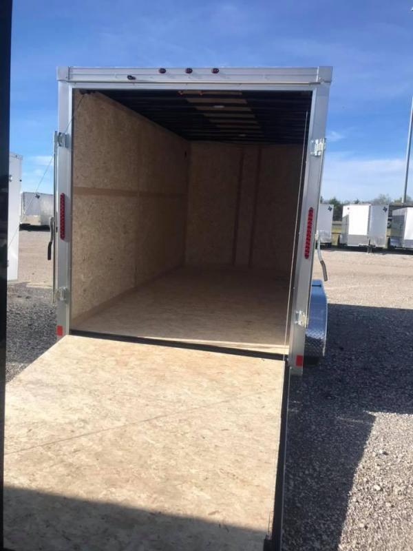 Wells Cargo 7X16 + V 7 FT interior COMMERCIAL GRADE ROAD FORCE Enclosed Cargo Trailer