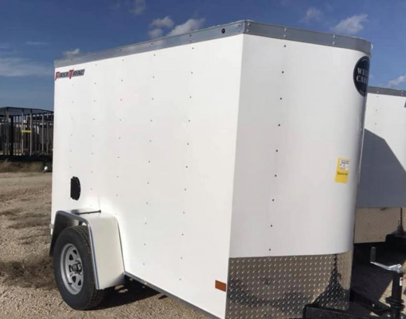 5x8 + v  Wells Cargo Fast track Cargo / Enclosed Trailer