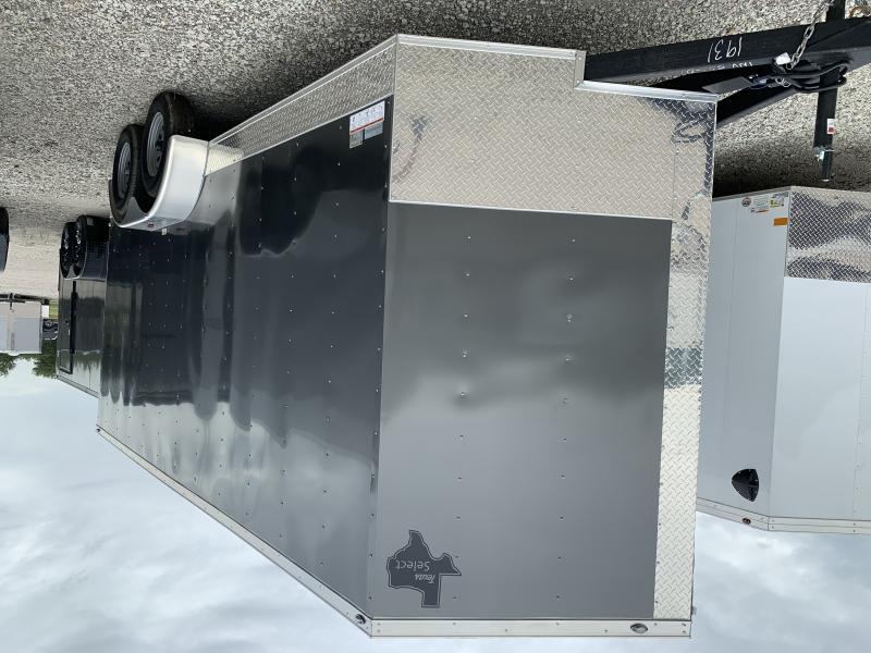7x16 + V 7 ft interior  Enclosed trailer cargo trailer Charcoal Cargo / Enclosed Trailer