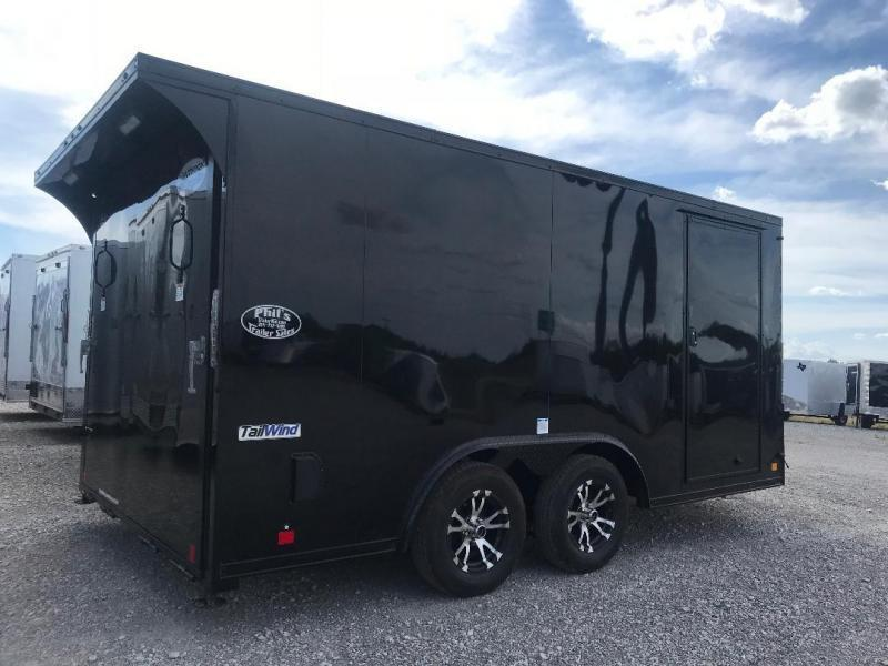 2020 Continental Trailers Motorcycle Trailer Blacked Out