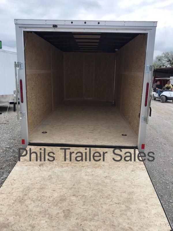 Wells Cargo 7x16 + v  nose Enclosed trailer