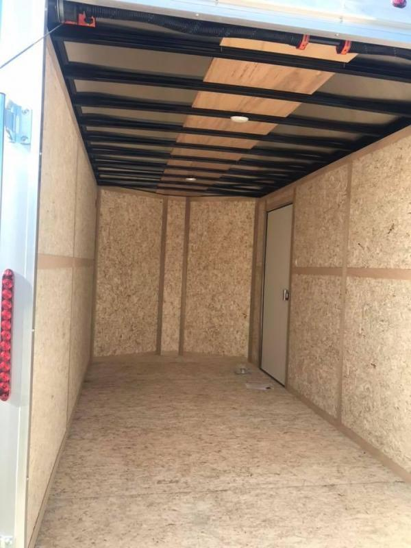 Wells Cargo RED 7X14 + V ENCLOSED  TRAILER COMMERCIAL GRADE ROAD FORCE Enclosed Cargo Trailer