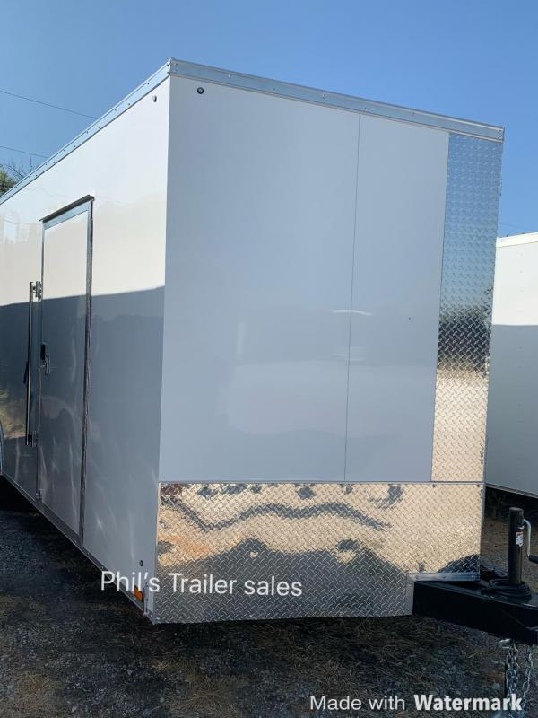 8.5X20  Pace American 7 FT INTERIOR 5200 LB AXLES Slant Nose Enclosed Cargo Trailer