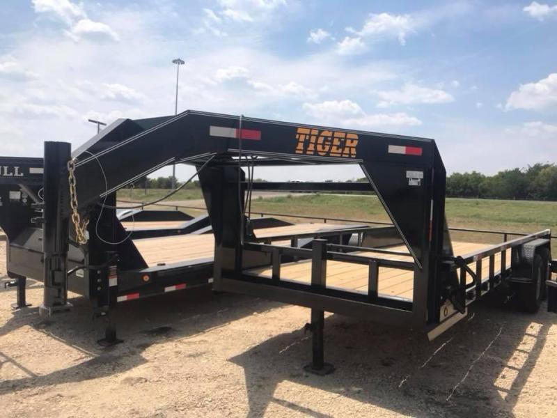 Tiger 24 GOOSENECK LOWBOY TRAILER UPGRADED 3 TUBE Equipment Trailer