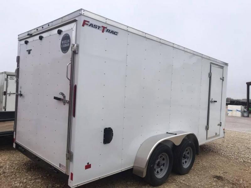 Wells Cargo 7x16 + v  nose Enclosed trailer